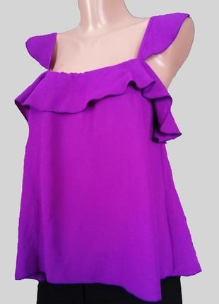 Фиолетовая майка блузка шифон