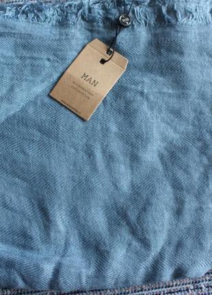 Продам шарф piazza italia 90 см /190 см бледно-голубой новый