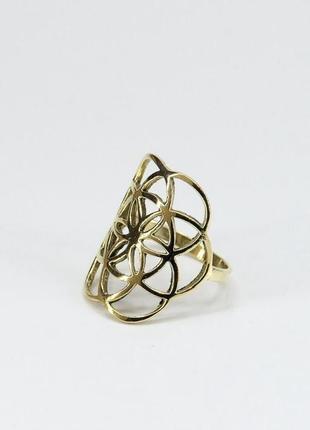 Кольцо золотистое бохо стиль