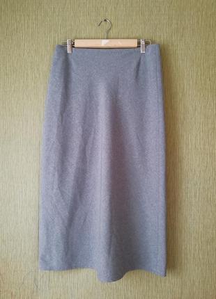 🌿серая юбка миди🌿базовая юбка