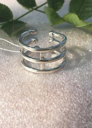 Кольцо серебряное на фалангу трио 1545