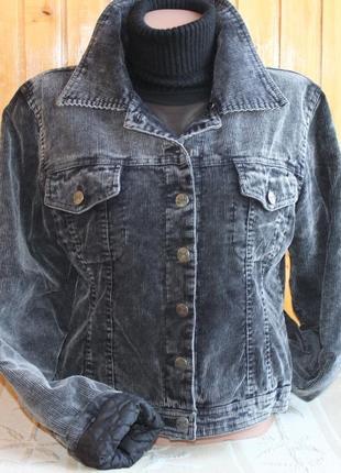 Утеплённая вельветовая куртка, жакет fishbone 42 / 14 / xl