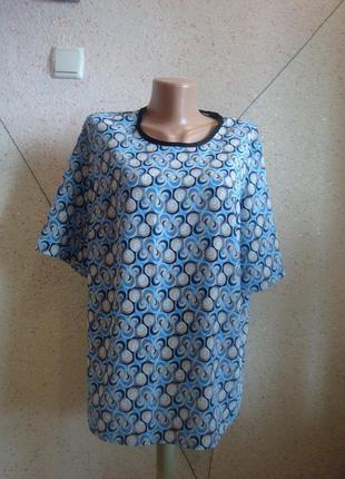 Шикарная блуза футболка в принт венззеля. размер 14-18