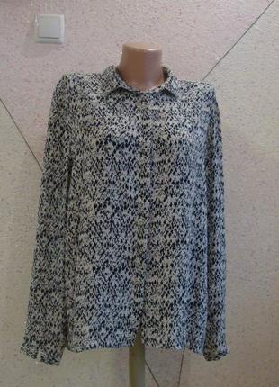 Рубашка блуза с красивым воротником бусинками. размер 16-20