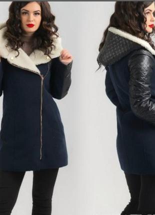 Куртка,пальто,кашемир+ овчинка 100%..44-46,можно для беременных