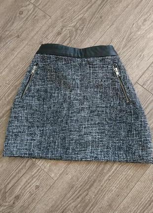 Трендовая твидовая юбка ,юбка,юбка из твида,юбка букле,теплая юбка.теплая юбка на осень