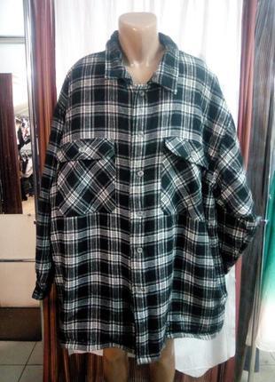 Теплая рубашка куртка большой размер 4xl
