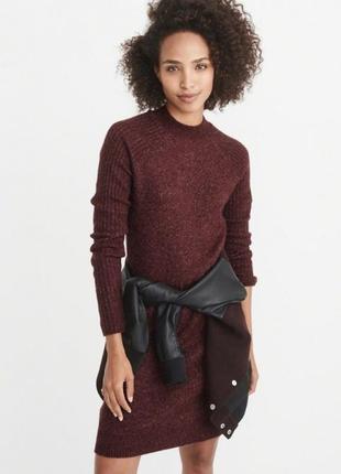 Бордовое платье abercrombie & fitch