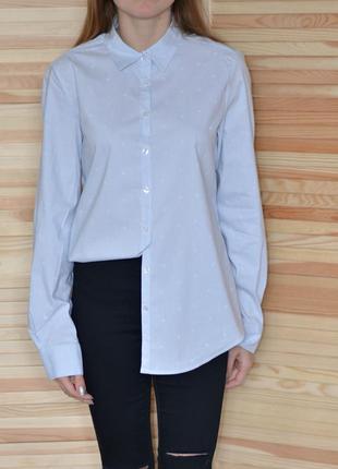 Рубашка в полоску интересная необычная milano italy цікава сорочка в полоску
