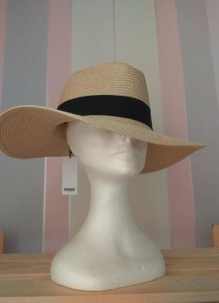 Шляпа с широкими  полями answear, l/универсальном размере!