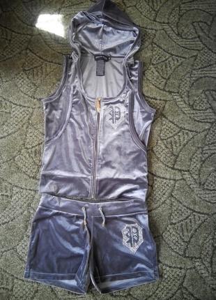 Бархатный костюм philipp plein