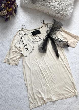 Zara новая футболка с фатиновым бантом