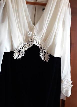 Супер нарядное платье, шифон + бархат