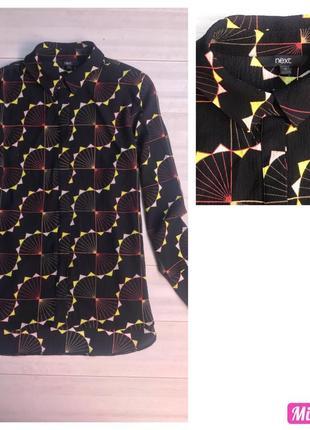 Актуальная рубашка блузка с длинным рукавом