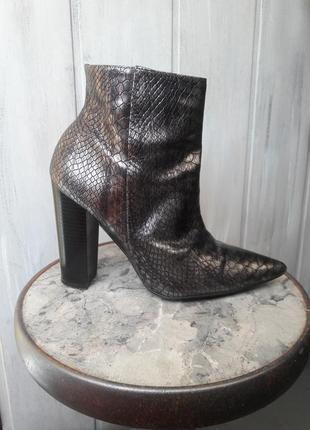 Шкіряні черевики з тисненням під рептилію