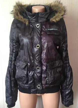 В наличии - зимняя куртка в камуфляжный принт *broadway* 38/м