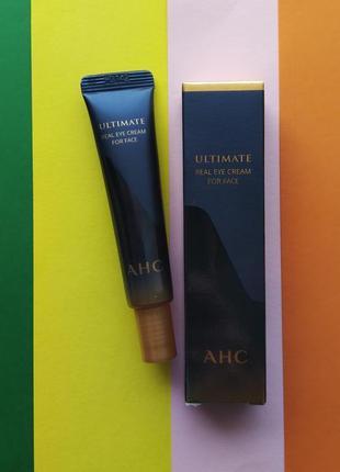 Премиальный крем для век с пептидами a.h.c. ultimate real eye cream for face 12 мл корея