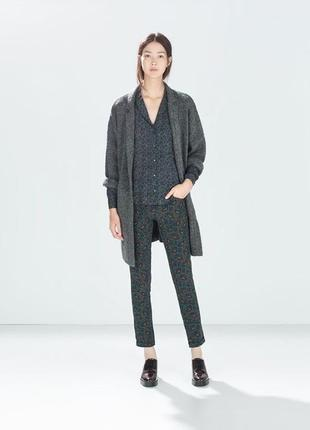 Вязаное oversize пальто кардиган от zara knit p.s