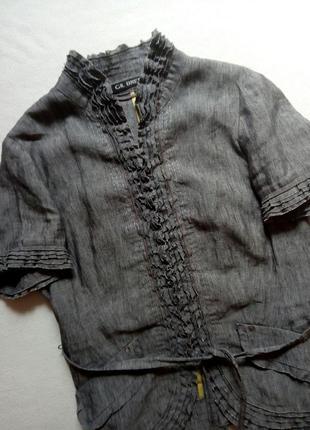 Льняной серый пиджак gil bret