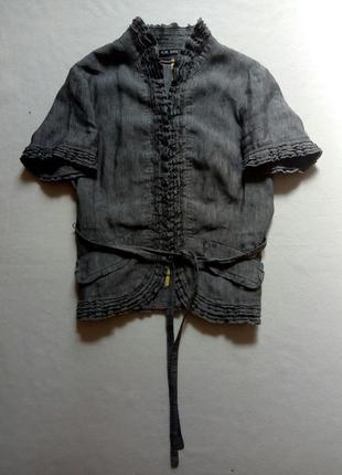 Льняной серый пиджак gil bret2 фото