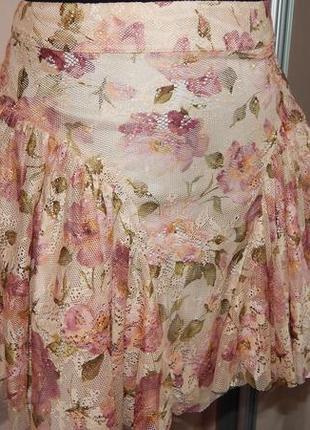 Красивая пышная юбка baby doll с подкладкой