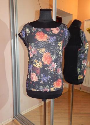 Блуза шифон + трикотаж фирмы house