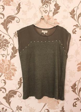 Zara футболка цвета хаки