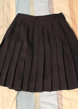 Трендовая чёрная мини-юбка с запахом m&s