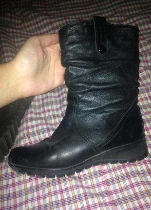 Зимние ботинки натуральные
