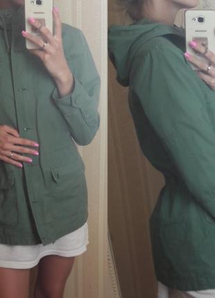 Новая куртка парка цвета хаки h&m