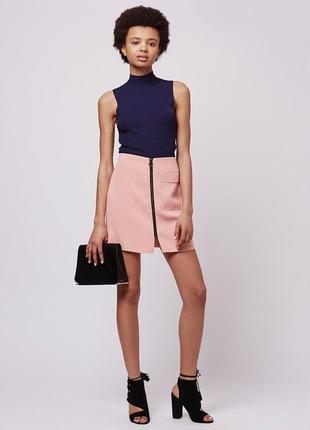 Пудровая юбка а-силуета от topshop