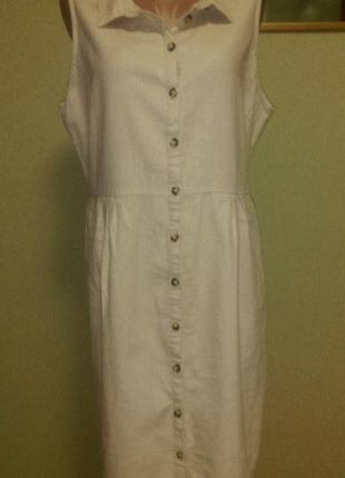 Платье рубашка в составе лен