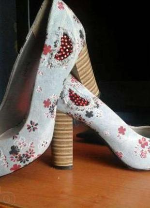 Джинсовые туфли
