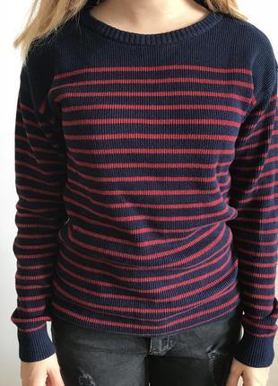 Полосатый свитер h&m