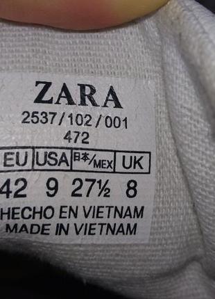 Кеды кожаные zara man 42 - 43 р 28 см 8 uk made in vietnam4