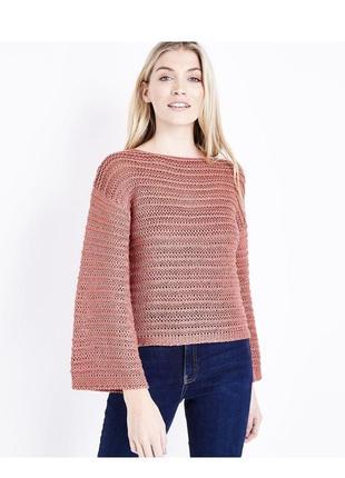 -25% на все! нежный вязаный джемпер оверсайз, свободный рукав, объёмный пуловер