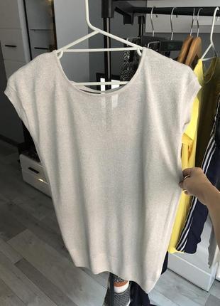 Асеметрична футболочка з срібною ниткою від next