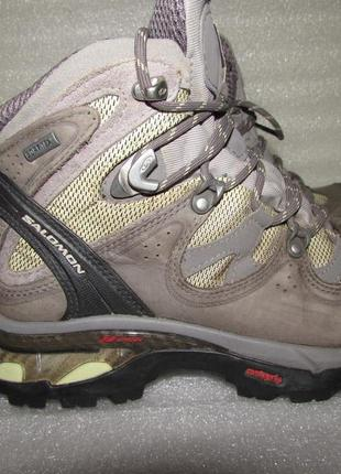 Крутые ботинки натуральная кожа ~salomon ~gore tex 3d р 37