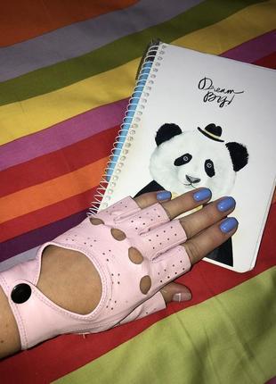 Перчатки кожаные без пальчиков