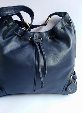 Azure design сумка кожаная длинная ручка через плечо 32х28х6 состояние новой