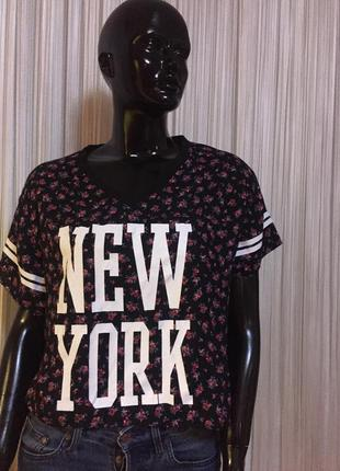 Блуза, футболка с надписью new york