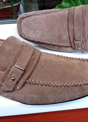 """Мягкие замшевые туфли """" marks & spencer"""", линия """"collezione"""" италия 44 р."""