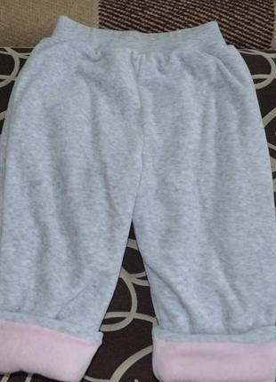 Утепленные штаны на девочку на 1-2г