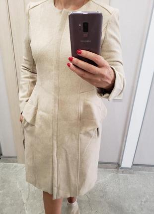 Шерстяное пальто р-р м