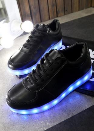 Кроссовки со светящейся светодиодной подошвой размеры с 36 по 41 акция до 19.12