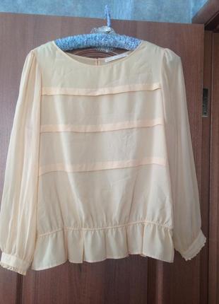 Трендовая нюдовая блуза блузка от next р.20 4xl хит продаж!