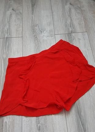 Шорты h&m высокие красные