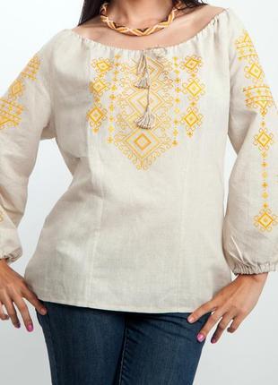 Очень красивая вышитая блуза!