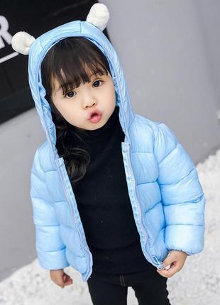 Демисезонная курточка с ушками 12-18 мес, 80 см3
