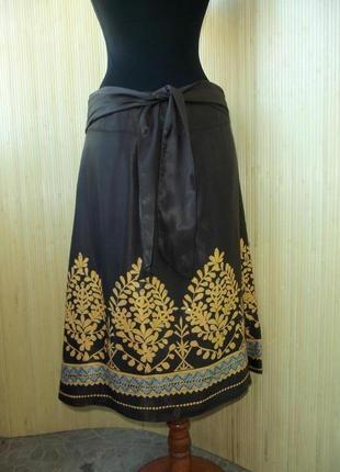 Женственная юбка колокол ниже колена